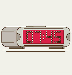 Digital clock flat icon vector