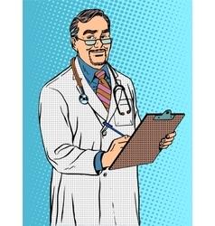 Doctor of medicine professor therapist vector