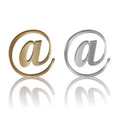 e-mail internet icon vector image