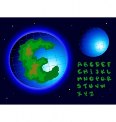earth alphabet vector image vector image