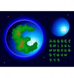 earth alphabet vector image