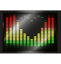 Equalizer with heart shape vector image