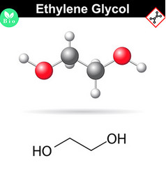 Ethylene glycol organic chemical compound vector image vector image