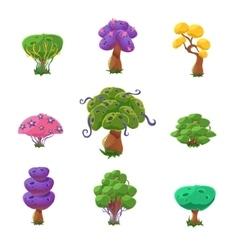 Fantastic Trees Set vector image vector image