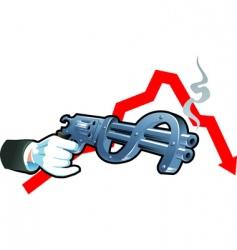financial war vector image vector image