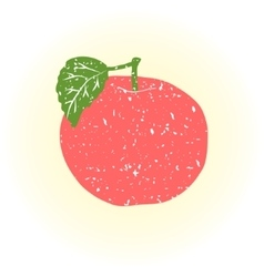 Fruits apple doodle vector