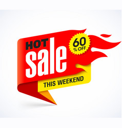 hot sale banner design template vector image vector image