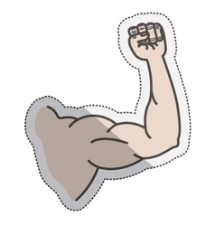Isolated muscle arm design vector