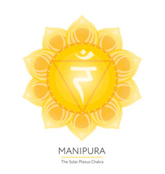 Manipura chakra icon vector