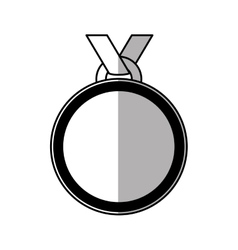 medal prize champion winner shadow vector image