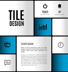 Modern layout vector