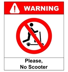 No scooters allowed symbol prohibition vector