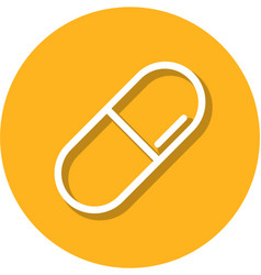 pill within a circle line icon vector image vector image