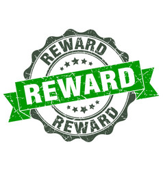 Reward stamp sign seal vector
