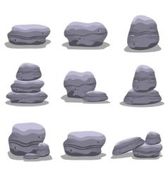 Rock set element collection art vector