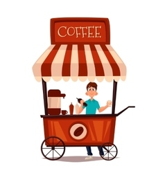 Sale of coffee outdoors vector image