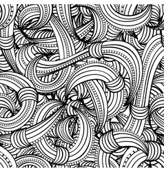 seamless black and white pattern abstract vector image vector image