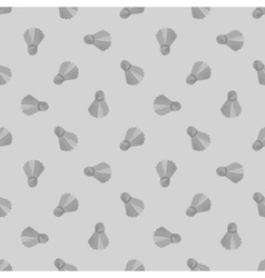 Seamless grey badminton ball pattern shuttlecock vector
