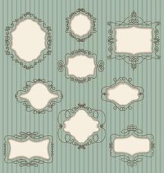 set doodle retro frames vector image vector image