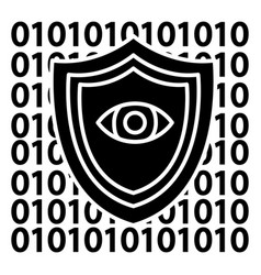 software security - anti virus icon vector image