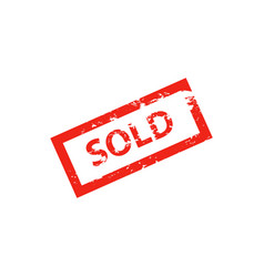 sold red stamp on whit vector image vector image
