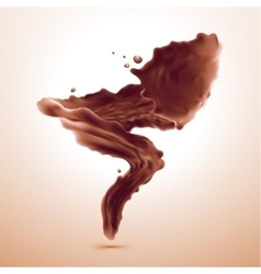 splash of brownish hot coffee or chocolate vector image vector image