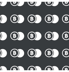 Straight black bitcoin coin pattern vector