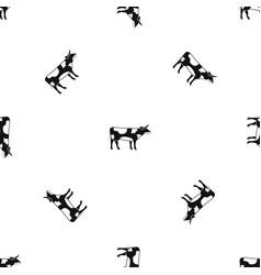 switzerland cow pattern seamless black vector image