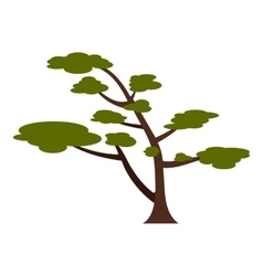 Tree with crown icon flat style vector image