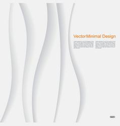 white elegant paper waves background vector image vector image