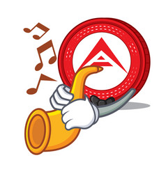 With trumpet ark coin character cartoon vector