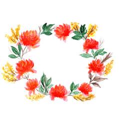 Wreath of mimosa vector