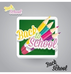 Pencil with text back to school background vector