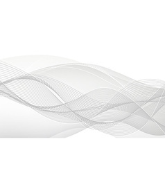 Abstract white waves vector image
