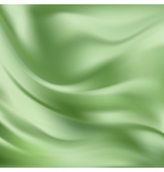 Abstract texture green silk vector
