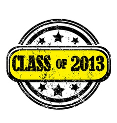 class of 2013 vector image