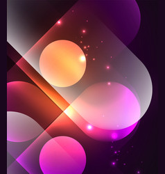 glowing geometric shapes background vector image