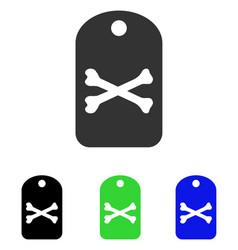 Death tag flat icon vector