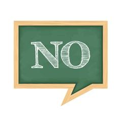 Blackboard with Word No vector image