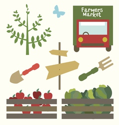 Garden market set vector