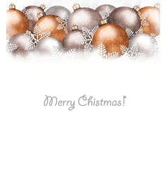 Christmas balls and snowflake on holiday vector image