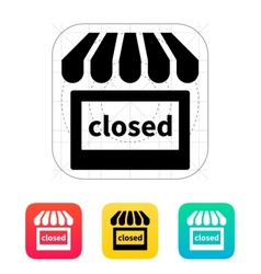 Shop closed icon vector