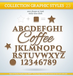 Coffee graphic styles for design use for decor vector