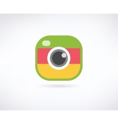 Photo app icon similar to instagram vector