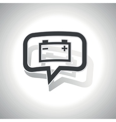 Curved accumulator message icon vector