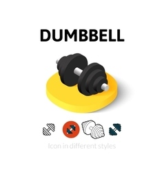 Dumbbell icon in different style vector
