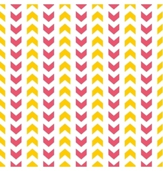 Tile pattern with yellow and pink arrows on white vector