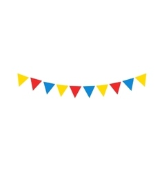 Festive flags vector