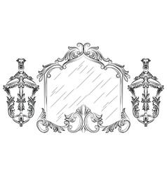Baroque mirror frame vector image vector image