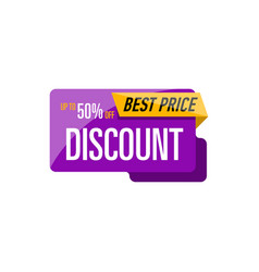 Best discount price isolated sticker vector